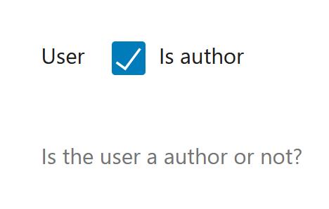 "A screenshot of the WordPress Gutenberg component ""CheckboxControl""."