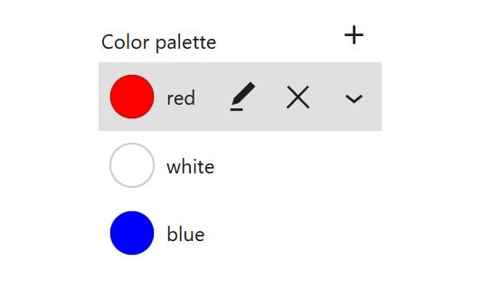 "A screenshot of the WordPress Gutenberg component ""ColorEdit""."