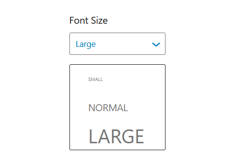 "A screenshot of the WordPress Gutenberg component ""CustomSelectControl""."
