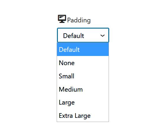 "A screenshot of the WordPress Gutenberg component ""DimensionControl""."