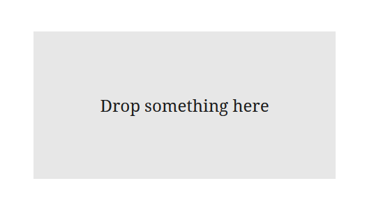 "A screenshot of the WordPress Gutenberg component ""DropZone""."