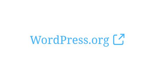 """A screenshot of the WordPress Gutenberg component """"ExternalLink""""."""