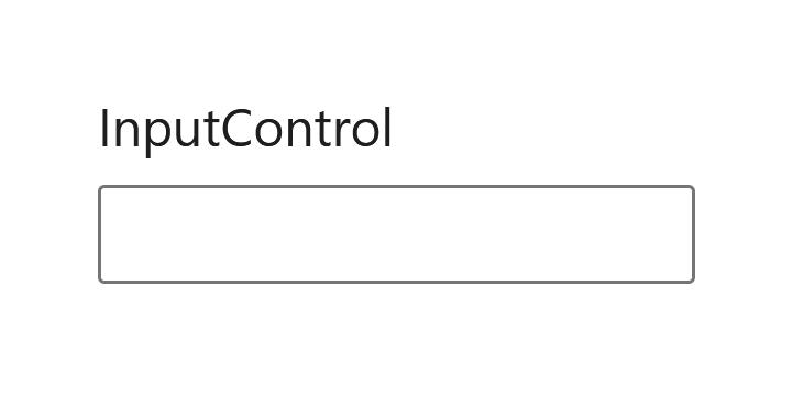 """A screenshot of the WordPress Gutenberg component """"InputControl""""."""