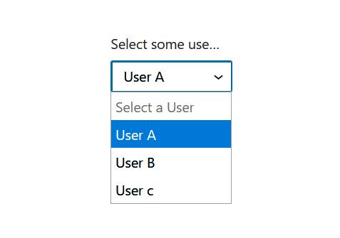 "A screenshot of the WordPress Gutenberg component ""SelectControl""."