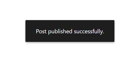 """A screenshot of the WordPress Gutenberg component """"Snackbar""""."""