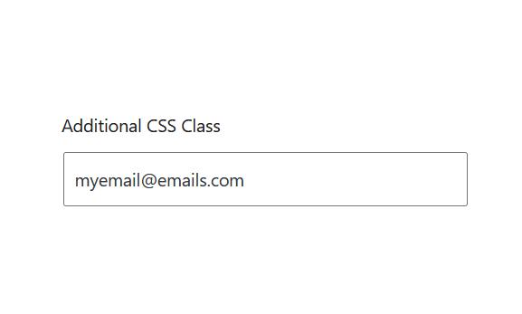 """A screenshot of the WordPress Gutenberg component """"TextControl""""."""