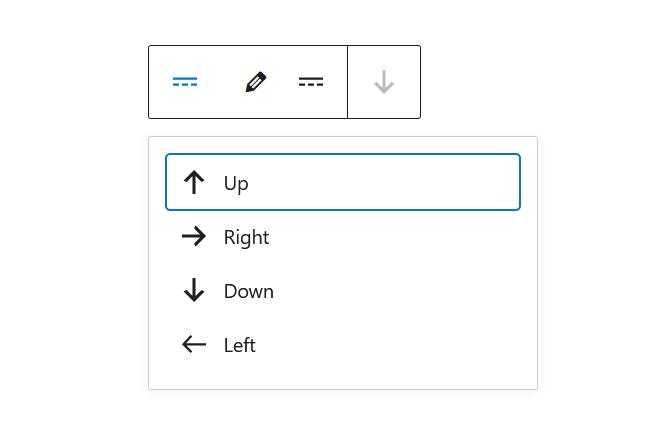 """A screenshot of the WordPress Gutenberg component """"Toolbar""""."""