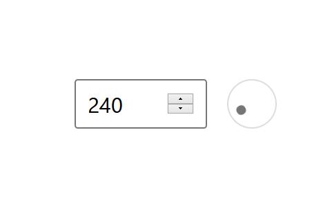 "A screenshot of the WordPress Gutenberg component ""AnglePickerControl""."