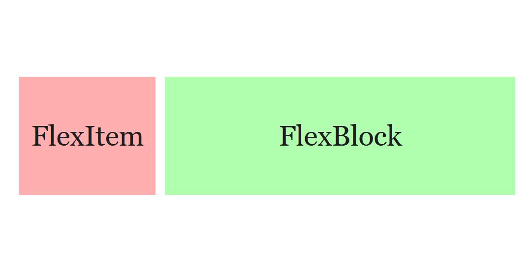 """A screenshot of the WordPress Gutenberg component """"Flex""""."""