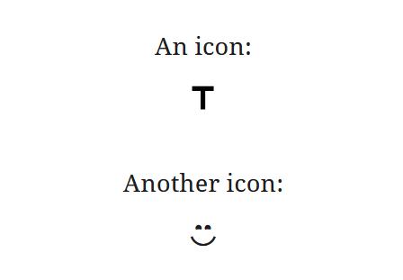 "A screenshot of the WordPress Gutenberg component ""Icon""."