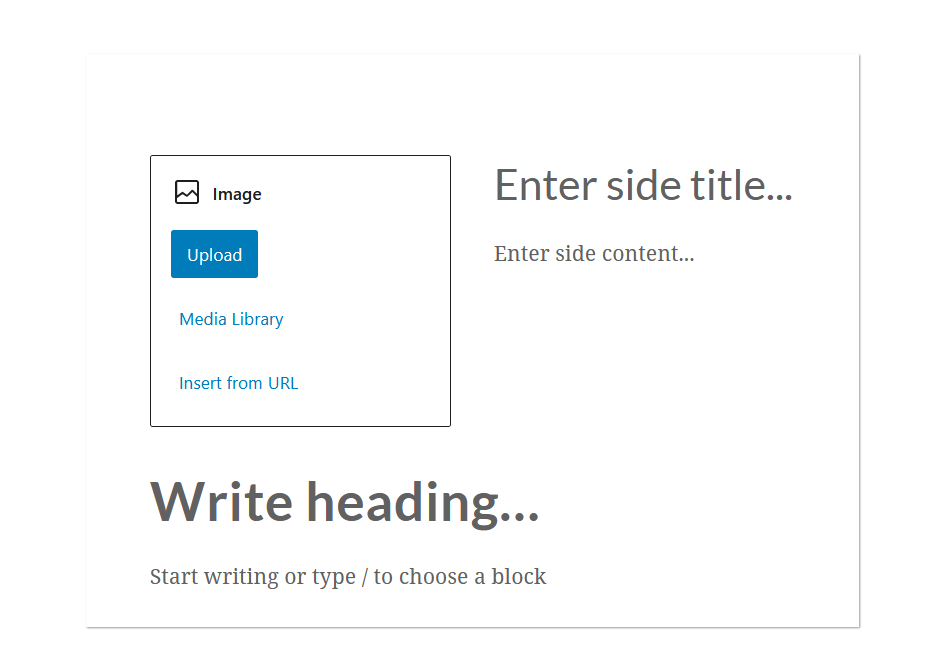 """A screenshot of an example of the WordPress Gutenberg block editor component """"InnerBlocks"""" after it's rendered and shown on the page."""